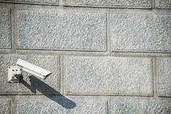 Security camera attached Royalty Free Stock Photo