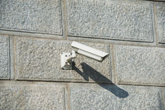 Security camera attached Royalty Free Stock Photos