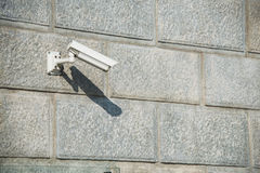 Security camera attached Royalty Free Stock Photography