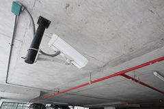 Security camera in car parking Stock Photography