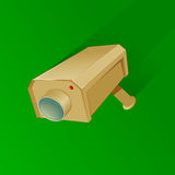 Security camera cartoon Royalty Free Stock Image