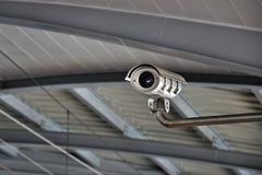 Security Camera or CCTV at airport Stock Image