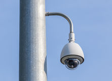 Security camera, CCTV on blue sky background Royalty Free Stock Images