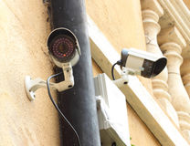 Security camera CCTV and box control Stock Images