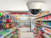 Security camera or cctv camera on ceiling royalty free stock photos