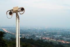 Security Camera or CCTV. Stock Photo