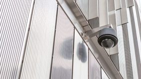 Security camera, CCTV in front of the building Stock Image