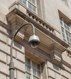 Security camera, CCTV in front of the white cement building Royalty Free Stock Photography