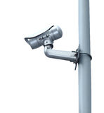 Security Camera or CCTV isolate on white background Stock Photo