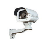 Security Camera or CCTV isolate on white background . Stock Images