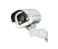Security Camera or CCTV isolate on white background . Royalty Free Stock Photography
