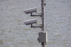 Security Camera, CCTV on location at airport Stock Photography