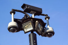 Security Camera, CCTV on location at airport Stock Images