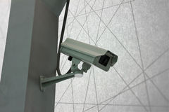 Security Camera CCTV on staircase abstract line background Stock Photos