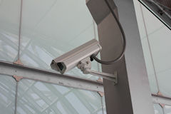 Security Camera CCTV on staircase Royalty Free Stock Image