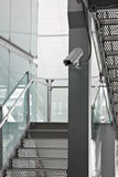 Security Camera CCTV on staircase Stock Photo