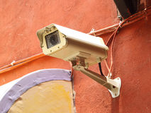 Security camera CCTV on wall Royalty Free Stock Photography