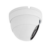 Security camera ceiling type isolated on white background with c. Lipping paths Royalty Free Stock Photography