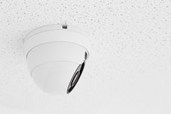 Security camera ceiling type at office building. Security cameras ceiling type at office building Royalty Free Stock Photos