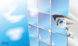 Security camera and computer Stock Images