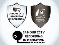 Security camera and computer Royalty Free Stock Photography