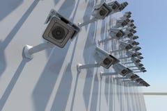 Security camera 3d render royalty free illustration