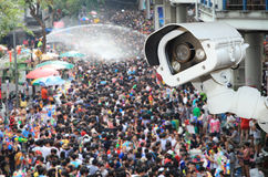 Security camera detecting the movement of traffic.CCTV Camera Op Stock Photography