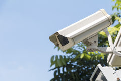 Security camera detects the movement Royalty Free Stock Images