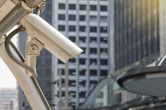 Security camera detects the movement Stock Photo