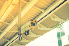 Security camera ( Filtered image processed vintage effect. ) . Royalty Free Stock Image