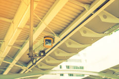 Security camera ( Filtered image processed vintage effect. ) . Stock Photography