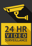 Security camera. Flat sticker security camera 01, vector illustration Stock Images