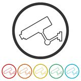 Security camera icon, 6 Colors Included Royalty Free Stock Photos
