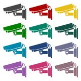 Security camera icons set. Vector icon Stock Photography
