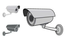 Security Camera Illustration Royalty Free Stock Image