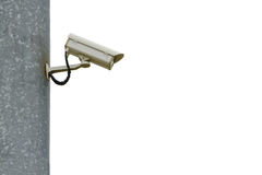 Security Camera. Isolate on white background stock photo