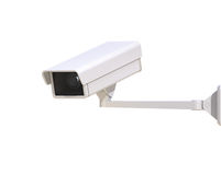 Security Camera Isolated on the White Background Royalty Free Stock Photos