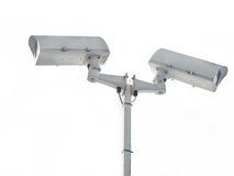 Security Camera isolated on white. Stock Photography