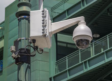 Security camera on lamp post. Near Fenway Park Royalty Free Stock Photos