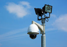 Security camera with light Stock Photography