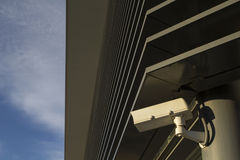 Security camera in a modern building Royalty Free Stock Photo