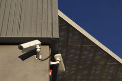 Security camera in a modern building Stock Image