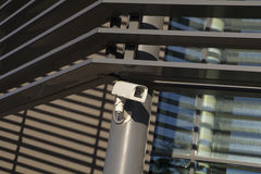 Security camera in a modern building Royalty Free Stock Images