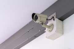 Security camera for monitor events in city.  Royalty Free Stock Photo