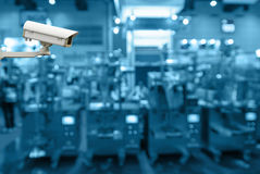 Security camera monitoring the store blur background Stock Image