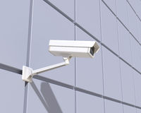 Security Camera Mounted on the Facade of the Building Royalty Free Stock Photography