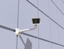 Security Camera Mounted on the Facade of the Building Stock Photo