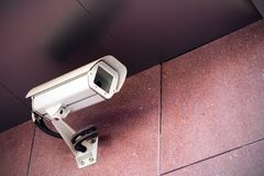 Security camera on office building Royalty Free Stock Image