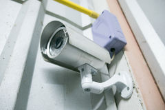 Security camera in old building Royalty Free Stock Images