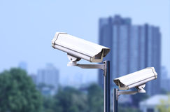 Security camera outdoor ,cctv outdoor Royalty Free Stock Photos